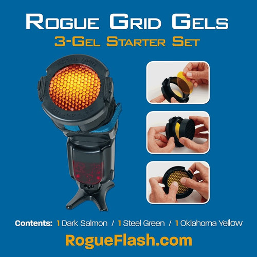 Rogue 3 in 1 Flash Grid with 3 Gel Starter Set
