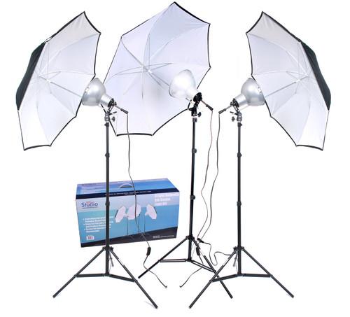 RPS Studio 3 Light Photoflood Umbrella Kit