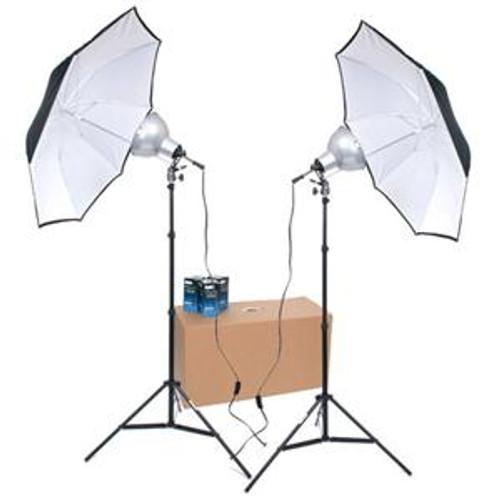 RPS Studio 2 Light Photoflood Umbrella Kit