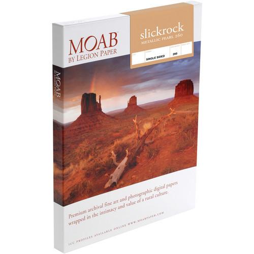 """Moab Slickrock Metallic Pearl 260 Paper- A4 8.27 x 11.69"""", 25 Sheets"""