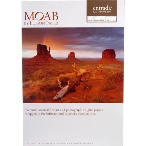 "Moab Entrada Rag Natural 300 Paper- 13 x 19"", 25 Sheets"