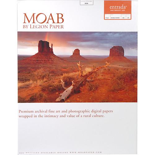 "Moab Entrada Rag Bright 300 Paper- 17 x 22"", 25 Sheets"