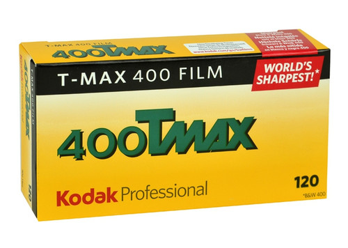 Kodak Professional T-Max 400 Black and White Negative Film- 120 Roll Film, 5-Pack