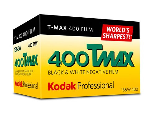 Kodak Professional T-Max 400 Black and White Negative Film- 35mm Roll Film, 36 Exposures