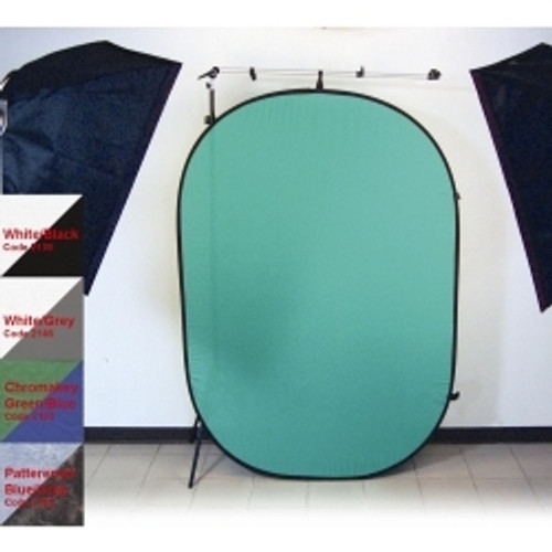 Promaster SystemPro Pop Up Background 6'x7' - White and Grey