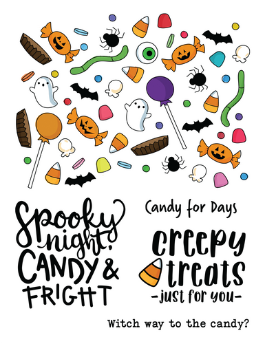 The Makers Movement Creepy Treats Stamp Set