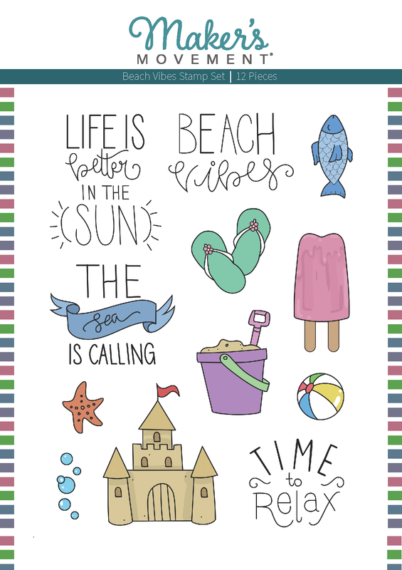 Beach Vibes Stamp Set