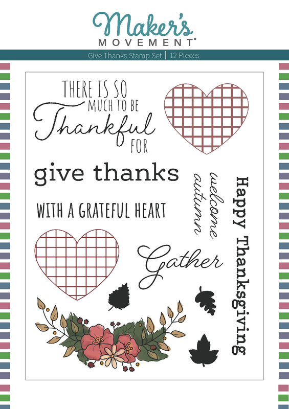 The Makers Movement Give Thanks Stamp Set