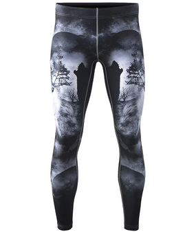 Wolves unique design rash guard pants
