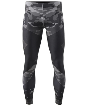 Black&Camo pattern design compression running tights