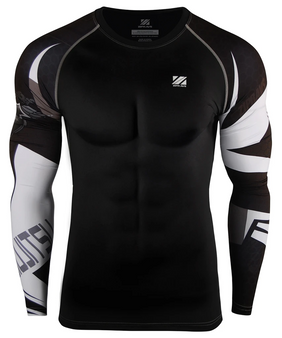 Black&White Line design Cool Dry Workout Compression shirt