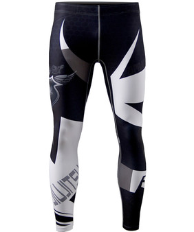 white&Black line design cool dry workout compression leggings
