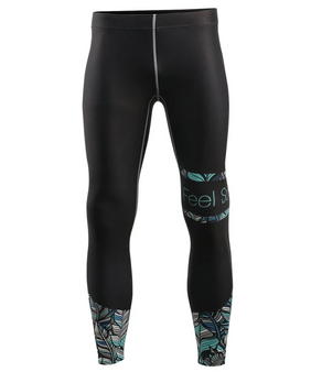 Green leaf design Surf Compression Tights Pants