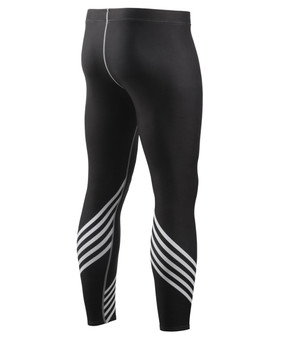 Black&White Line Design BJJ Training Compression Tights