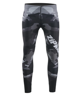 Black camo pattern design wieghtlifting compression tights