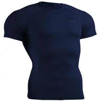 emfraa compression skin tight navy shirt