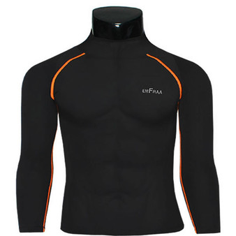 emfraa mock neck thermal shirts base layer black
