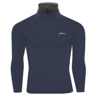 emfraa mock neck thermal shirts base layer navy