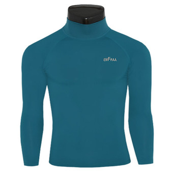 emfraa mock neck thermal shirts base layer neoblue