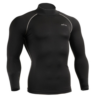 Mens Compression Under Layer Skin armour Long Sleeve mock neck baselayer shirts