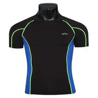 skin tight compression base layer black-Blue t shirt emfraa
