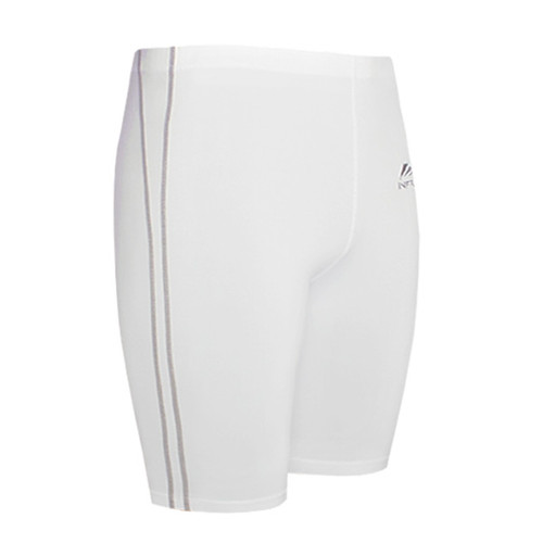 emfraa compression skin base layer tight shorts white