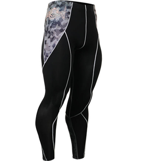 Fixgear black running tights pants base layer spandex leggings