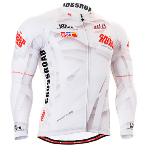 Fixgear cycling biking jersey printed white shirt for men