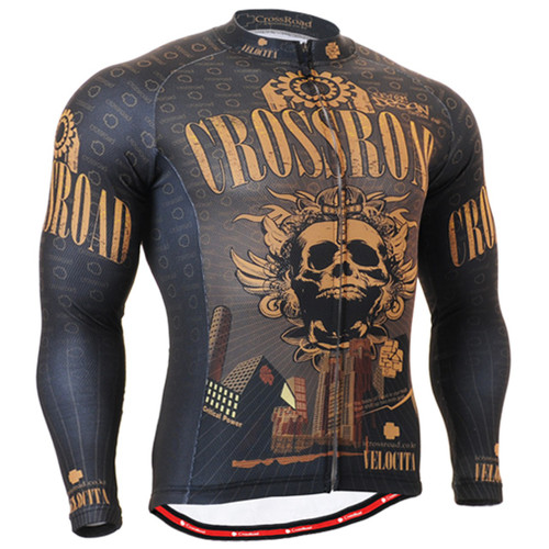 Fixgear cycling biking jersey skull printed shirts for men