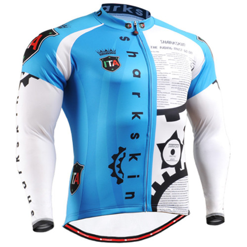 Fixgear cycling biking jersey printed blue shirts for men