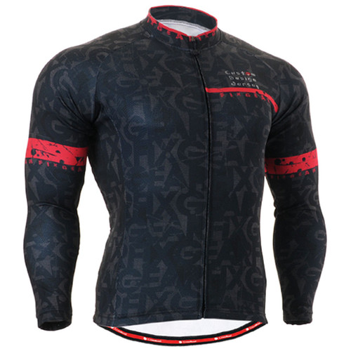 Fixgear cycling biking jersey printed dark navy shirts for men