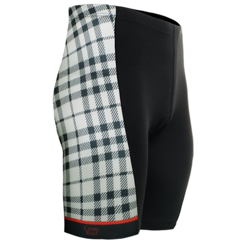 fixgear cycling bike padded stripe tight shorts black