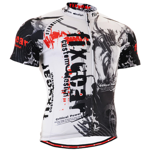 Fixgear cyclist biking jersey short sleeve for men