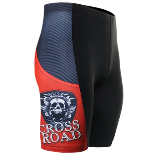 fixgear cycling bike padded tight cyclist shorts skull black