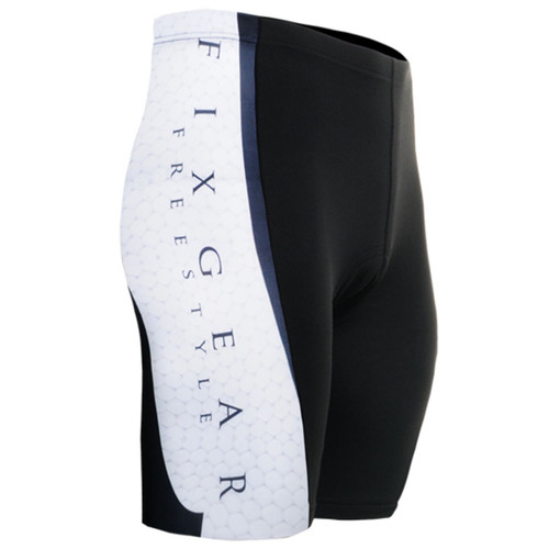 emfraa.com cycling padded tight white black shorts
