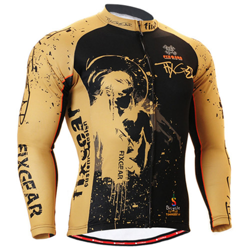 Fixgear Special design biking black beige shirts