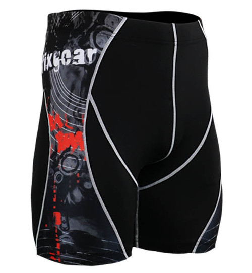 Fixgear skin printed base layer running shorts tight black