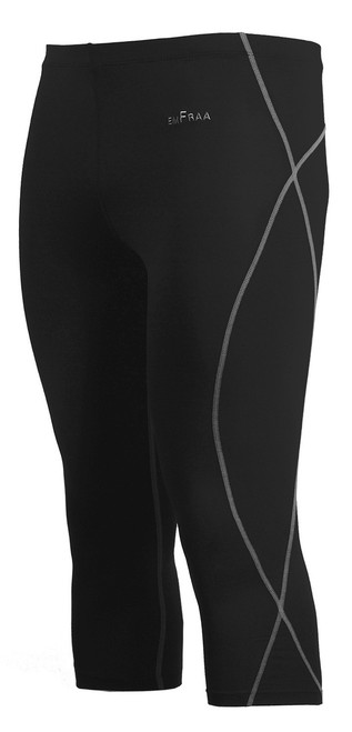emfraa grey stitching black capri yoga workout pants