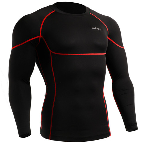 emfraa compression base layer black shirt