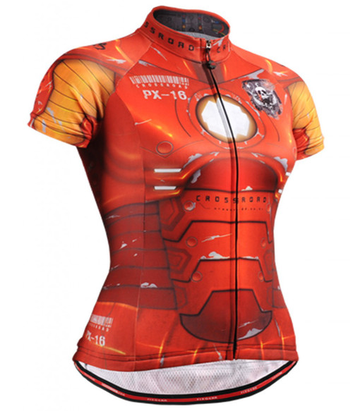 Fixgear Ironman printed women's cycling jersey