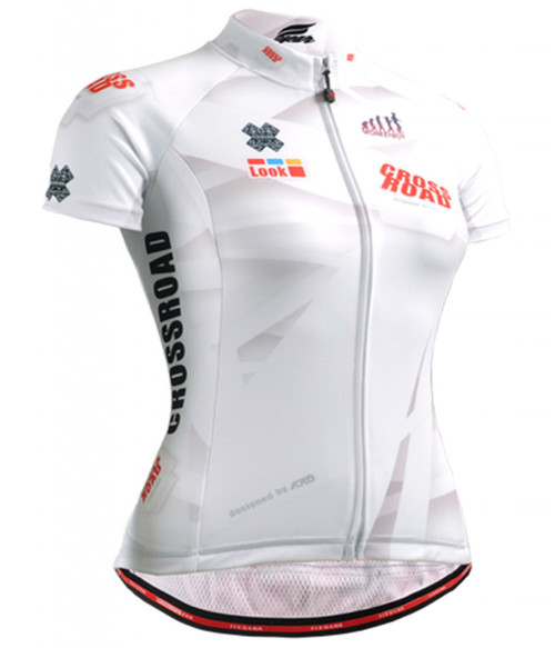 fixgear cycling jersey white short sleeve for women