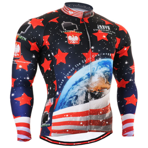 Fixgear earch printed cycling jersey
