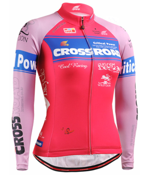 Fixgear Womens Pink Bicycle Cycling jersey Long sleeve S~XXL.