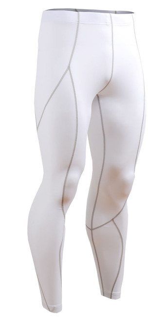 Fixgear skin tights printed base layer white running pants S~4XL