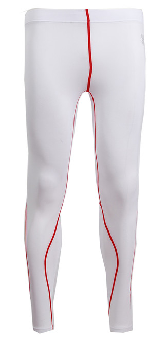 running compression white pants