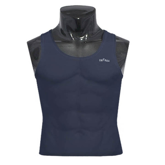 emfraa compression skin tight base layer navy sleeve less