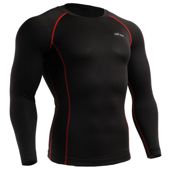 emfraa compression wear skin tight shirt Black