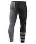 white&black line design gym compression tight pants