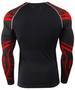 Red Line &Camo pattern design surf Rash Guard Compression T-Shirt