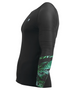 Green leaves pattern design bjj compression rash guards tee